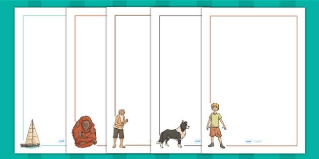 Kensuke's Kingdom Page Borders - writing template, writing aid