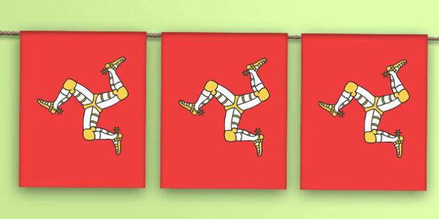Isle of Man Flag Bunting - isle of man flag, isle of man, flag, bunting, display bunting, display