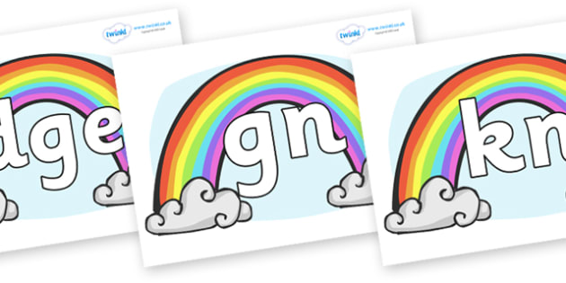 Silent Letters on Rainbows - Silent Letters, silent letter, letter blend, consonant, consonants, digraph, trigraph, A-Z letters, literacy, alphabet, letters, alternative sounds