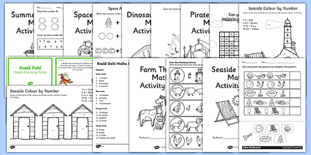 KS1 Summer Holiday Maths Activity Pack
