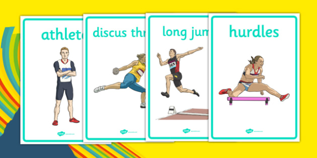 The Olympics Athletics Display Posters - Olympics, Olympic Games, sports, Olympic, London, 2012, display, banner, poster, sign, Olympic torch, flag, countries, medal, Olympic Rings, mascots, flame, compete, athletics, race, running, sprint, jumping,