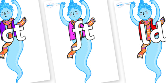 Final Letter Blends on Genie of the Ring - Final Letters, final letter, letter blend, letter blends, consonant, consonants, digraph, trigraph, literacy, alphabet, letters, foundation stage literacy