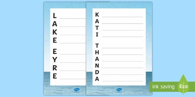Kati Thanda–Lake Eyre Acrostic Poem - Water in Australia, lake eyre, kati thanda, Australian water, Australia lake, lakes, Australia flood