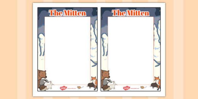 The Mitten Editable Note - the mitten, editable note, editable