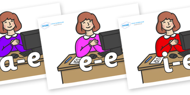 Modifying E Letters on Receptionists - Modifying E, letters, modify, Phase 5, Phase five, alternative spellings for phonemes, DfES letters and Sounds
