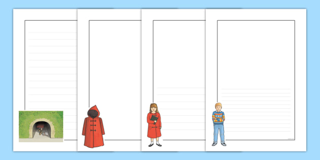Page Borders to Support Teaching on The Tunnel - tunnel, story books, borders, writing
