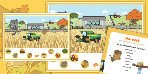 Harvest Can you Find...? Poster and Prompt Card Pack