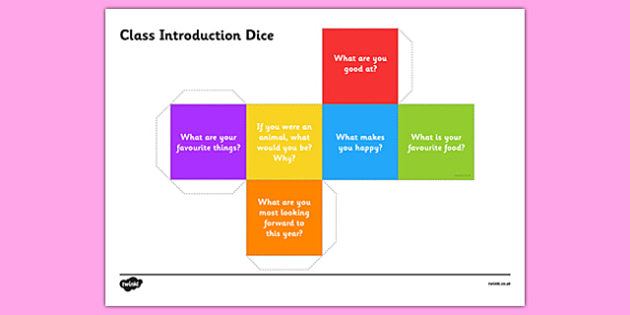 Class Introduction Questions Dice Net - class introduction, questions dice, introduction, questions, dice, class introduction dice, class questions dice