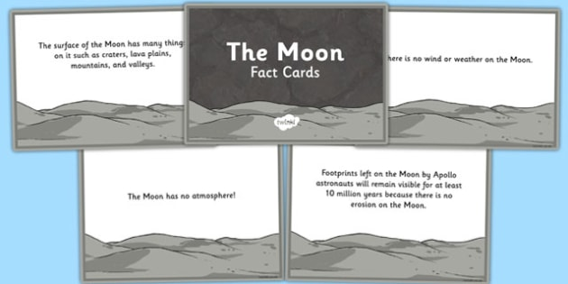 The Moon Fact Cards - the moon, fact cards, moon, fact, cards