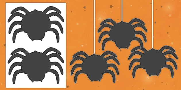 Dangly Spider Cut-Outs