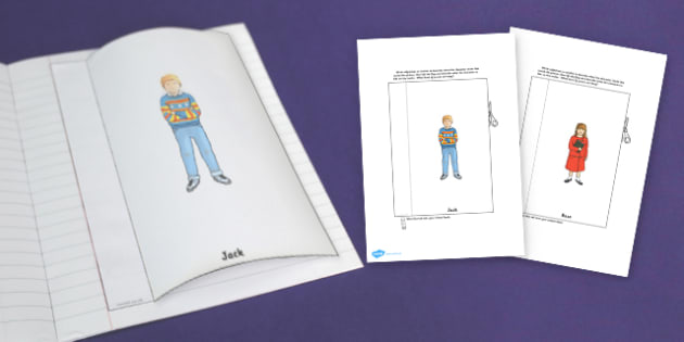 Character Description Interactive Writing Template to Support Teaching on The Tunnel