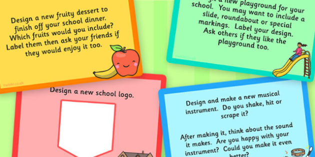 KS1 Design Technology Challenge Cards - KS1, Design, Technology