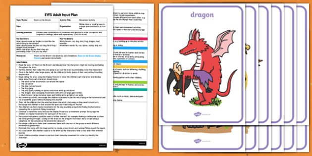 EYFS Movement Activity Adult Input Plan and Resource Pack