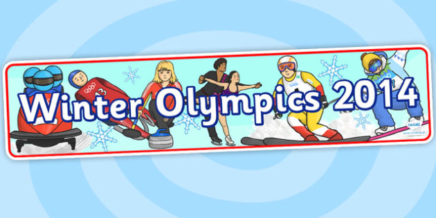Winter Olympics 2014 Display Banner - winter, olympic, banner
