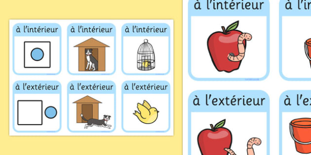 Outside Inside Locational Prepositions French - french, positional language