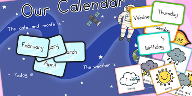 Space Themed Display Calendar Weather - australia, space, display