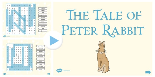 The Tale of Peter Rabbit Interactive Wordsearch - peter rabbit