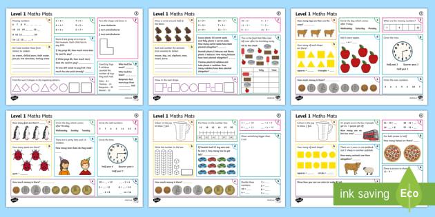 New Zealand Level 1 Maths Activity Mats