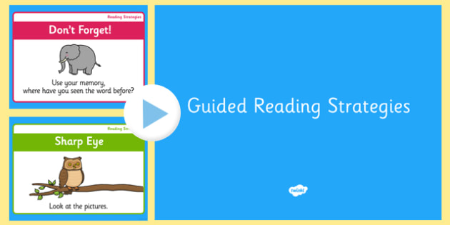 Guided Reading Strategy PowerPoint - guided reading, strategy, powerpoint, reading strategy