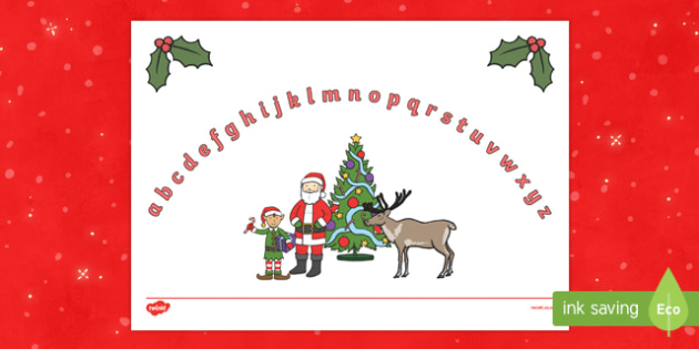 Christmas Themed Lower Case Alphabet Arc
