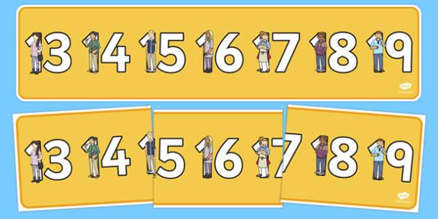 Teen Numbers Display Banner - teen numbers, teen, numbers, display banner, display, banner