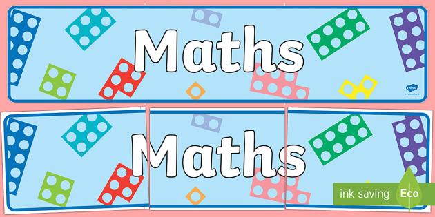 Number Shapes Maths Banner