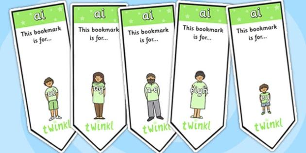 ai Sound Family Editable Bookmarks - ai sound family, editable bookmarks, bookmarks, editable, behaviour management, classroom management, rewards, awards