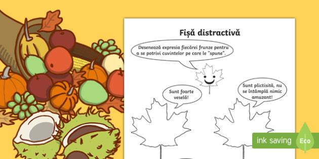 Frunze expresive - Fisa distractiva