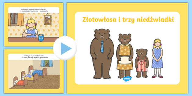 Prezentacja PowerPoint Złotowłosa i trzy niedźwiadki po polsku