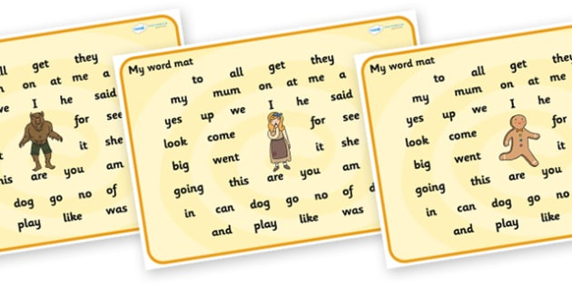 Traditional Tales Themed FS2 Word Mat - traditional tales, word mat, fs2 word mat, foundation stage 2, themed word mat, word, mat, letters, sounds, fs2