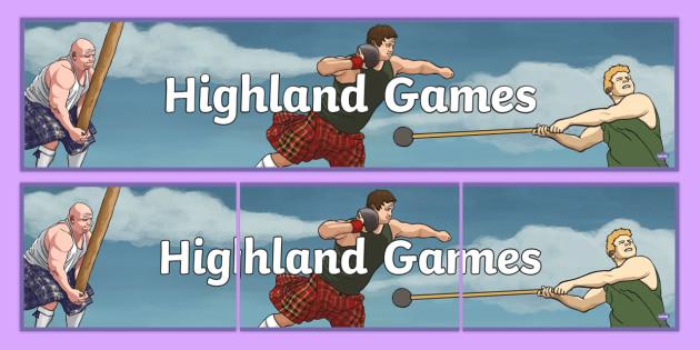 Highland Games Display Banner - CfE, Highland, Scotland, games, sports, heritage, culture