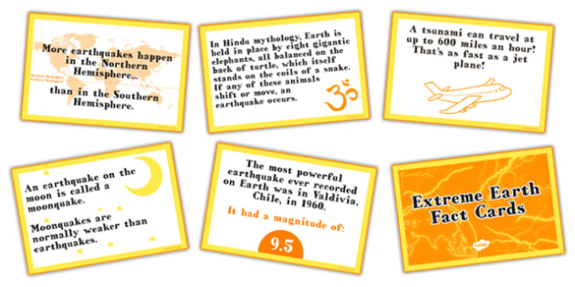 Extreme Earth Fact Cards - extreme, earth, fact, cards, facts