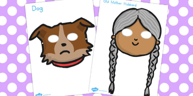 Old Mother Hubbard Role Play Masks - australia, role-play, masks