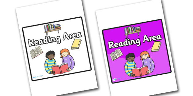Reading Area Sign - sign, display sign, area display sign, area sign,  reading area, reading, reading sign, reading poster, area, classroom areas, school areas, classroom area signs, topic signs, topic area signs