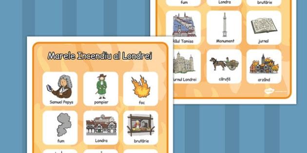 Marele Foc al Londrei -vocabular, imagini, cultura engleză, Romanian