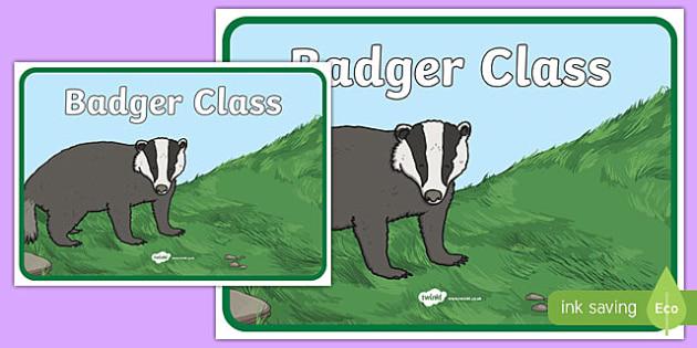 Badger Class Display Poster - badger class, display poster, display, poster, badger, class