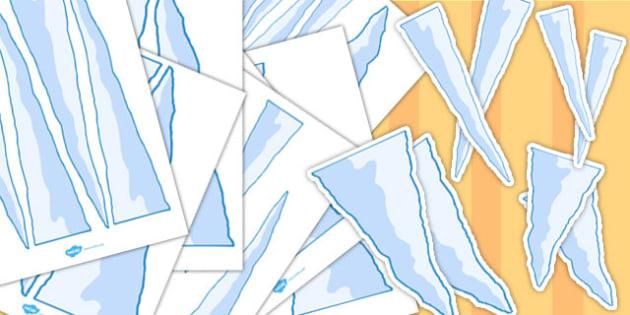 Polar Icicle Size Matching Activity - polar, icicles, activity