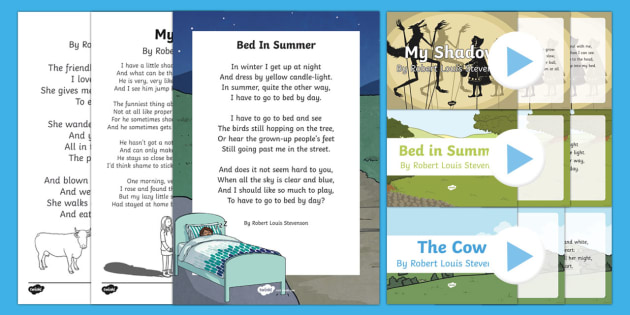Robert Louis Stevenson Poems Resource Pack - Reading Plan, Stimulation, Ideas, Support, English, Activity Co-ordinators, Elderly Care, Care Homes
