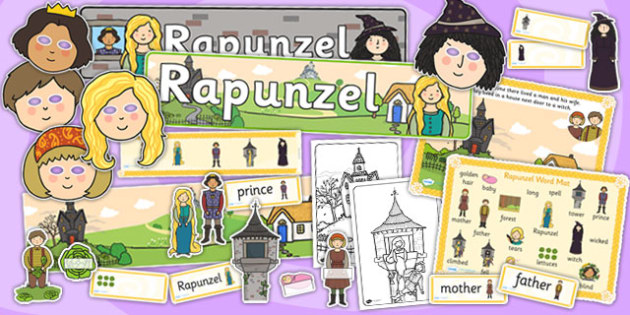 Rapunzel Story Sack - story sack, story books, story book sack, stories, story telling, childrens story books, traditional tales