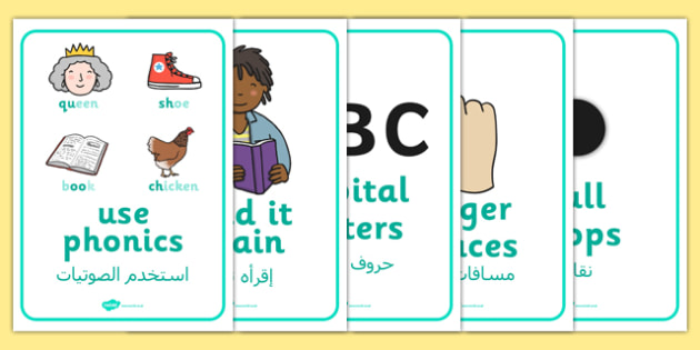 Writing Prompt Posters A4 Arabic Translation - information, visual aids, notes, independent work, english, literacy, ks1, key stage 1