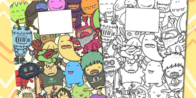 Monster Themed Calendar Template - monster, calendar, template