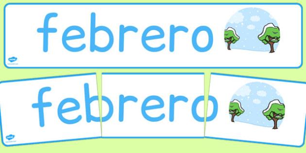 Febrero Display Banner Spanish - spanish, year, months of the year, february