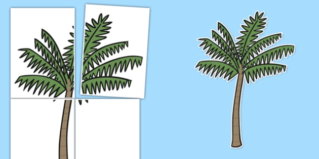 Large Palm Tree Display Cut Out 4xA4 - large, palm trees, display, cut out