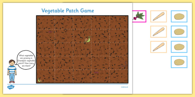 Vegetable Patch Counting Game