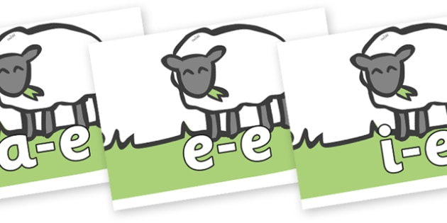 Modifying E Letters on Sheep to Support Teaching on Pig in the Pond - Modifying E, letters, modify, Phase 5, Phase five, alternative spellings for phonemes, DfES letters and Sounds