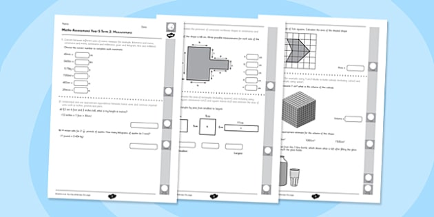 Year 5 Maths Assessment: Measurement Term 2 - Maths, Assessment, Measurement