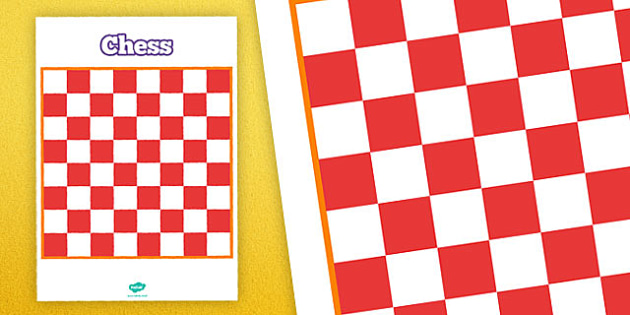 Printable Chess Board - printable, game, activity, class, chess board