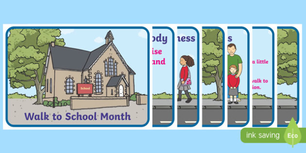 Walk to School Month Display Posters