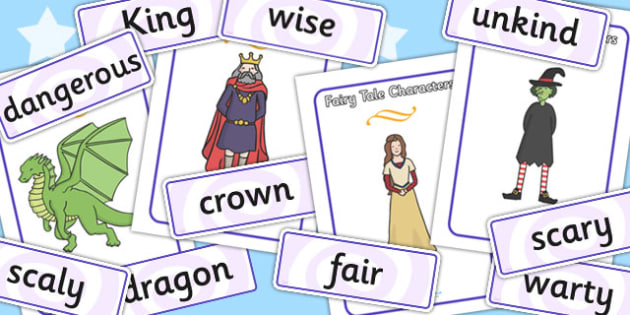 Fairytale Match The Character to the Descriptive Words - literacy, reading, fairytales, matching