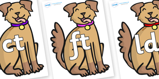 Final Letter Blends on Dogs - Final Letters, final letter, letter blend, letter blends, consonant, consonants, digraph, trigraph, literacy, alphabet, letters, foundation stage literacy